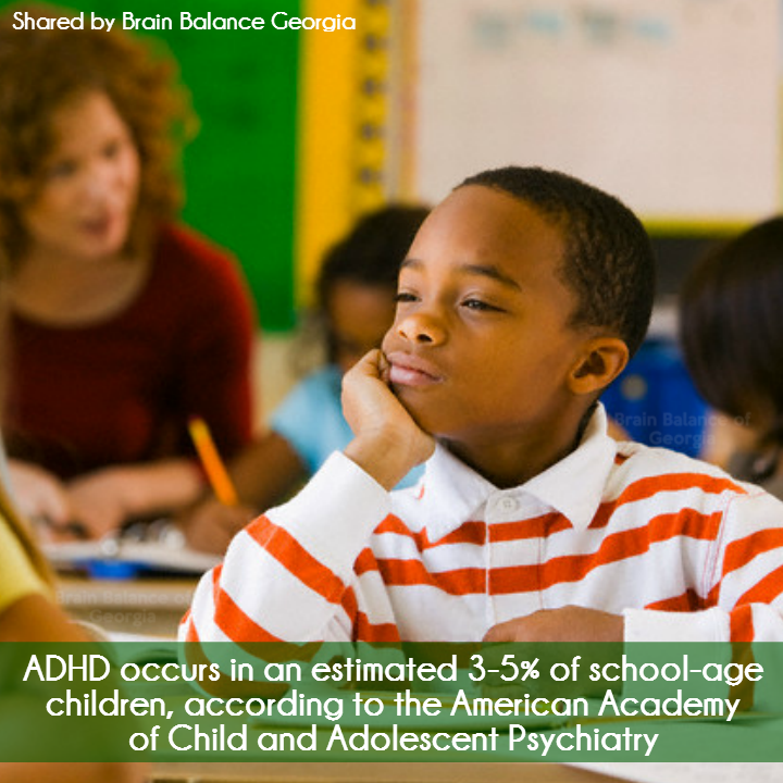#ADHD occurs in an estimated 3 to 5 percent of school-age #children, according to the American Academy of #Child and Adolescent #Psychiatry (#AACAP). #ADHDawareness #awareness #ADD #ADHDacceptance #acceptance #tolerance #love  #PeachtreeCity #Roswell #Suwanee #Atlanta #Georgia #GA #brainbalance #addressthecause #afterschoolprogram