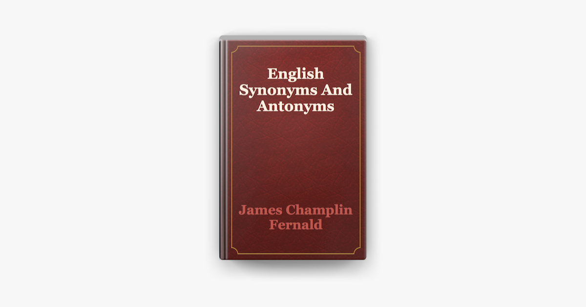English Synonyms And Antonyms on Apple Books in 2020 ...