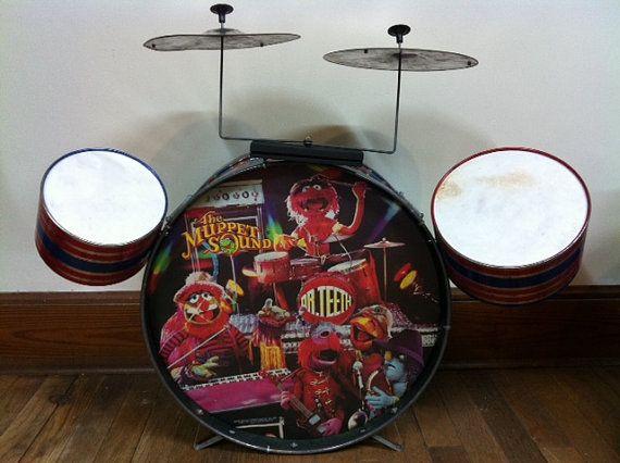 vintage Muppet Show drum set | Drums, Drum set, Muppets