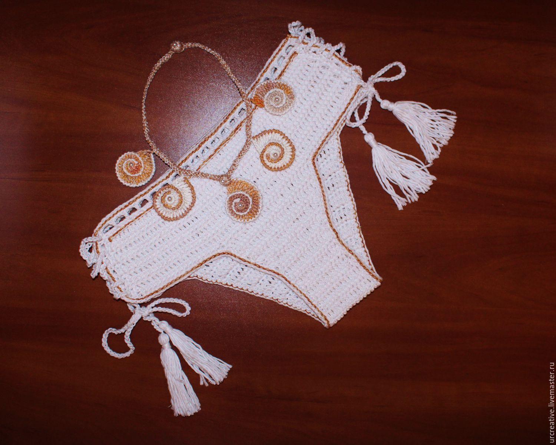 пляжные комплекты крючком схемы