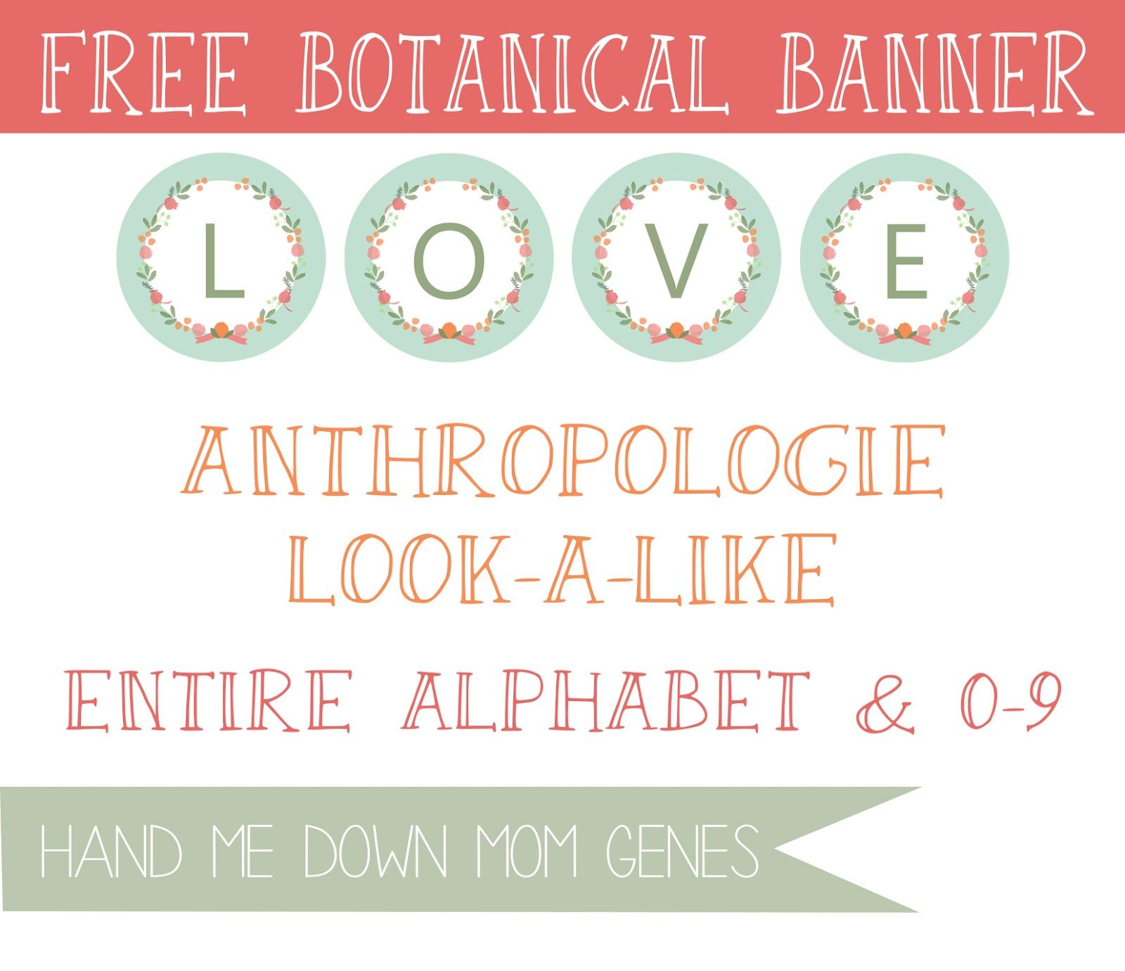 Hand Me Down Mom Genes: Anthropologie Look-a-Like: Botanical Banner