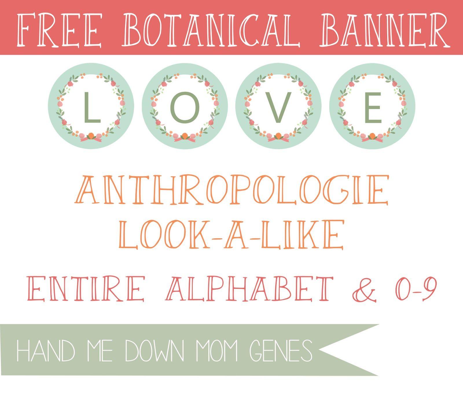 Hand Me Down Mom Genes: Anthropologie Look-a-Like: Botanical Banner