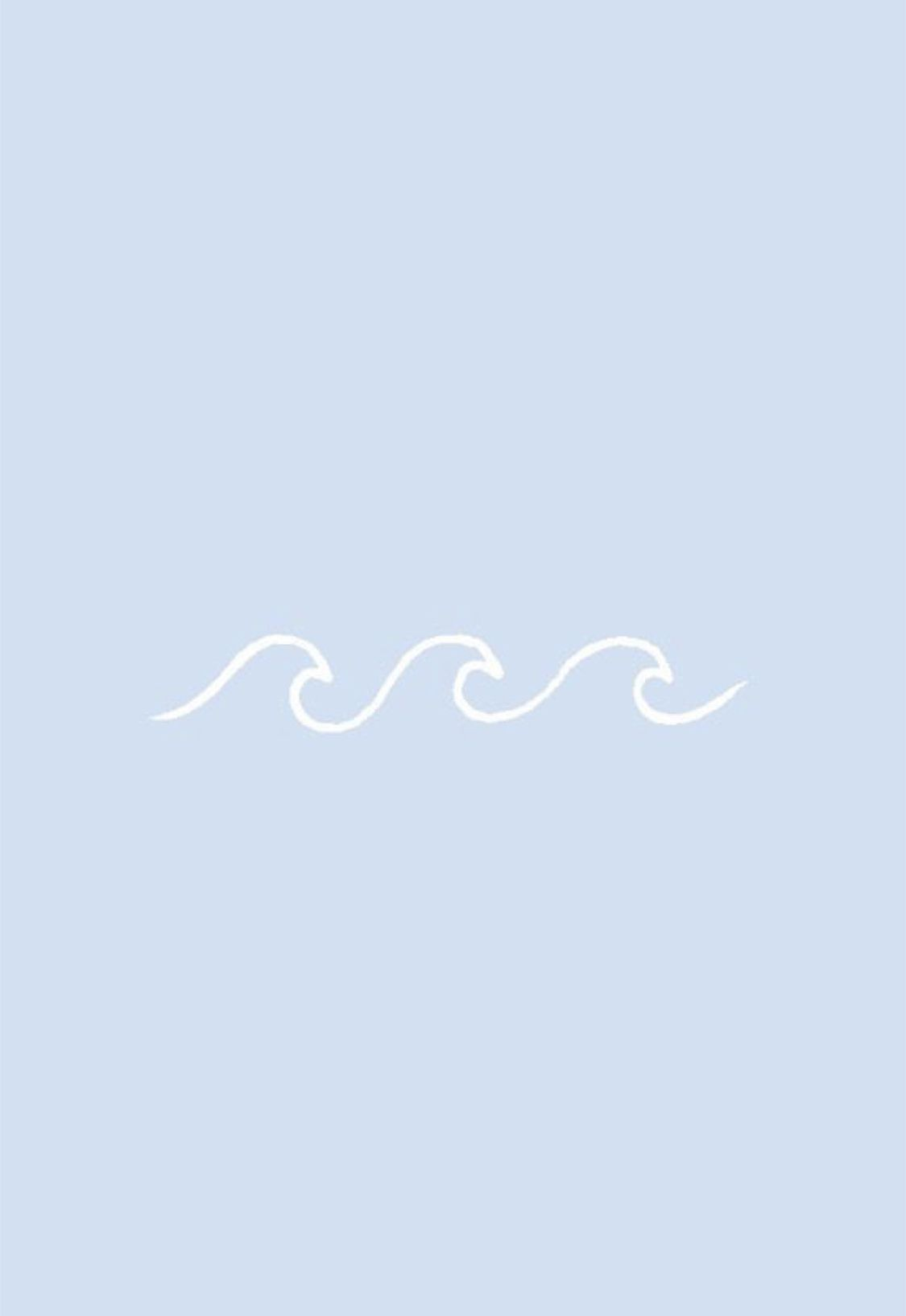 Cute blue VSCO wave background for iPhone Iphone