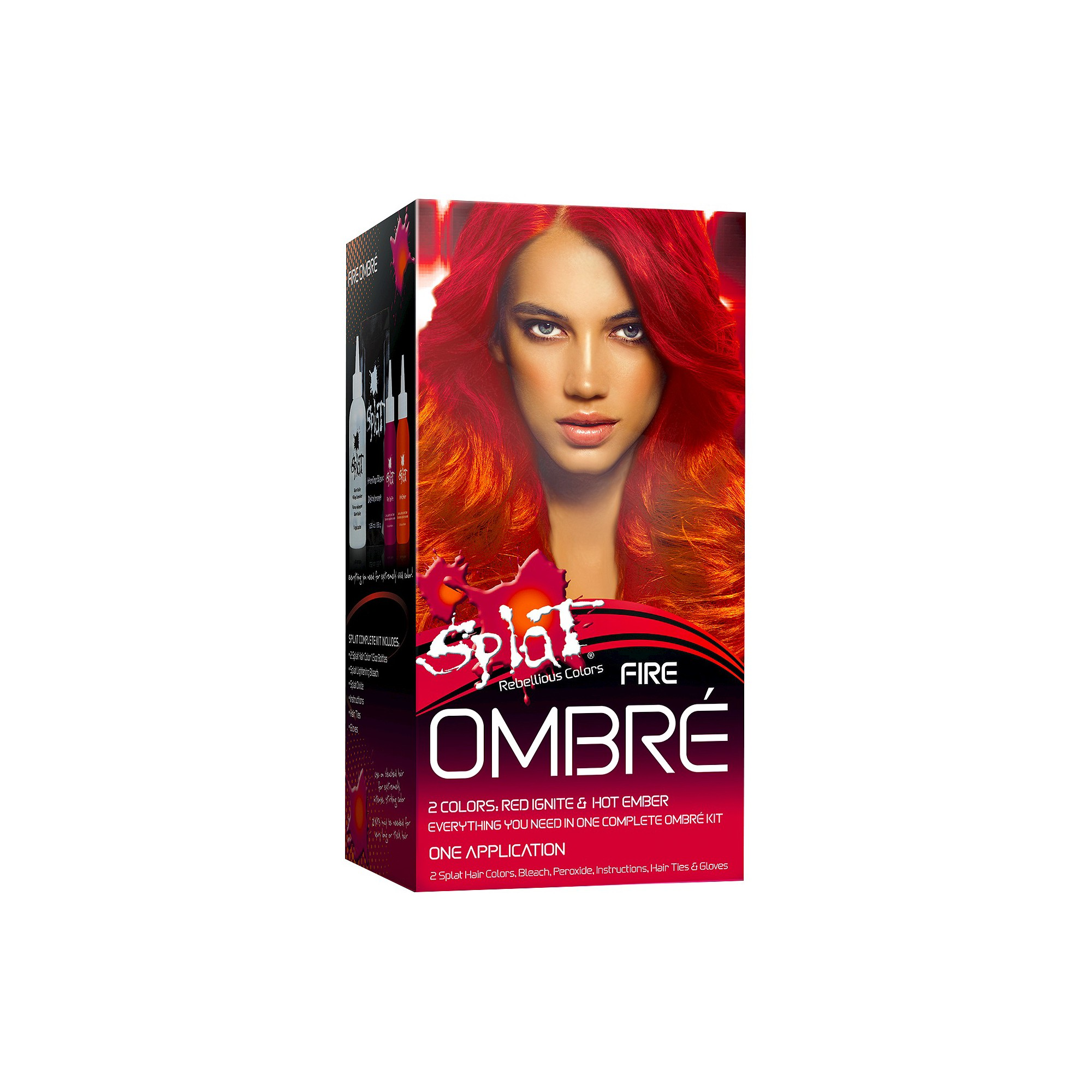 Splat Ombre Fire Hair Bleach And Color Kit 5 2 Fl Oz In 2020 Splat Hair Dye Bleached Hair Fire Hair