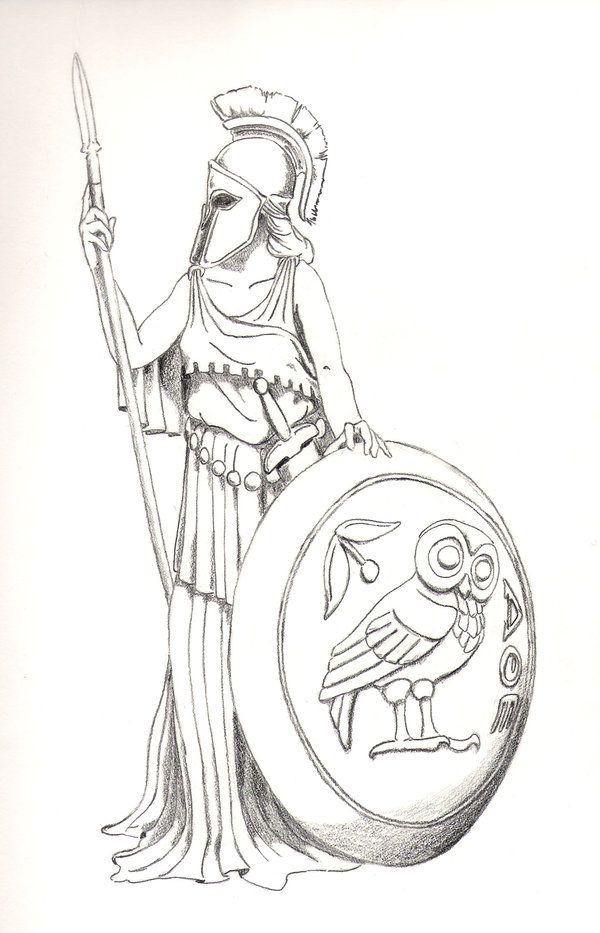 Greek Mythology Tattoo Athena Bandito Tatouage Mythologie