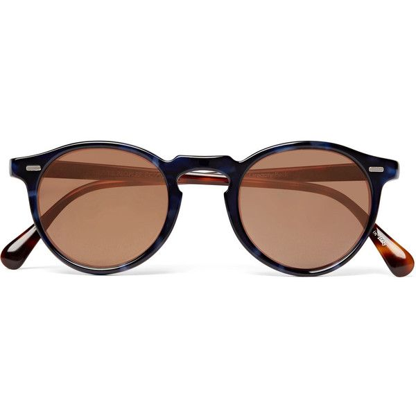 Oliver Peoples Gregory Peck Round-frame Two-tone Tortoiseshell Acetate Sunglasses - Brown 1EoGbYolN