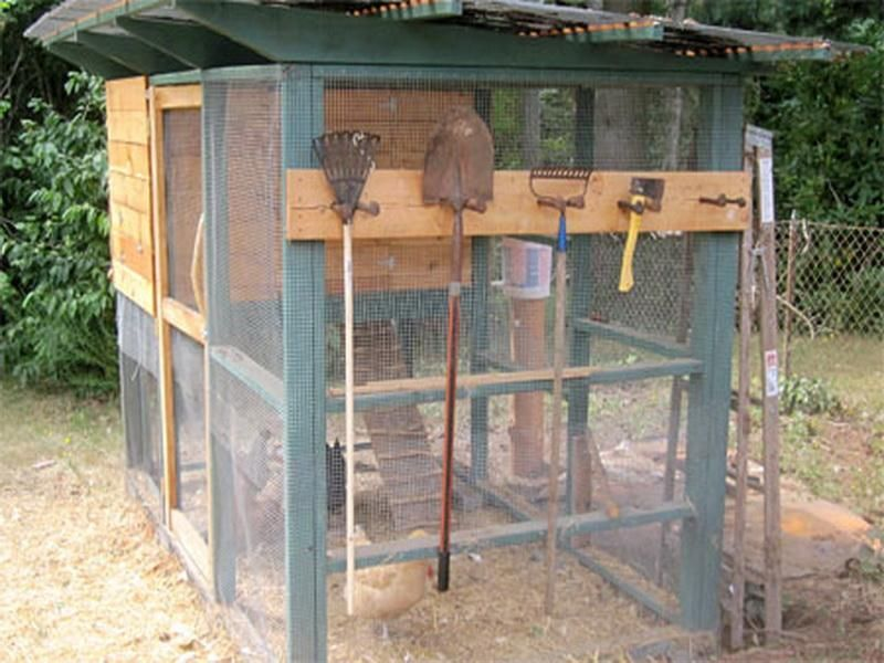 Best diy chicken coop plans gardening chicken keeping for Diy movable chicken coop