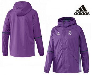 Chaqueta impermeable morada Real Madrid Adidas  01fdd29a42333
