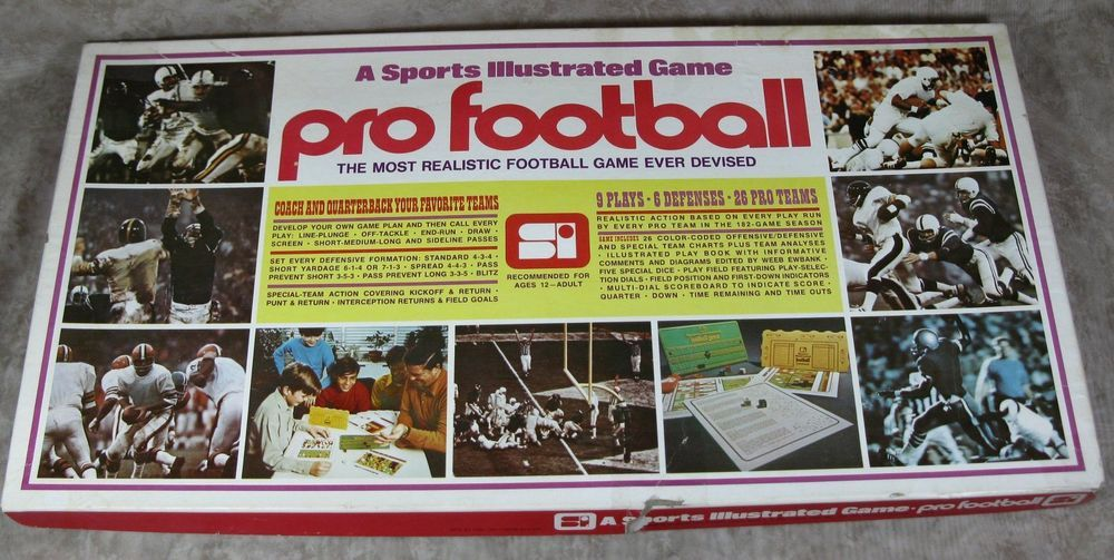 A Sports Illustrated Game Pro Football Vintage 1972 w/1971 Team Cards #SportsIllustrated