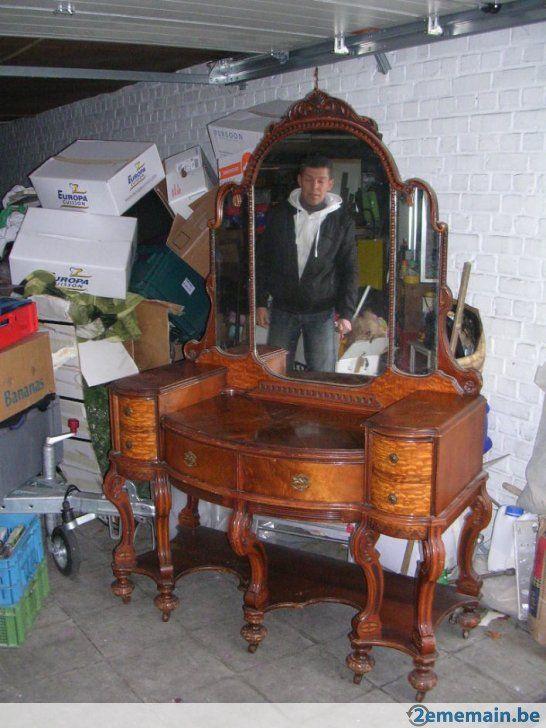 Meuble antique anglais ancienne maquilleuse a voir - A vendre a