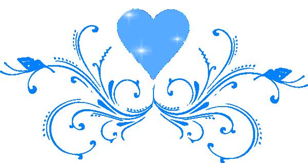 Annabella 67 Art Line Design : Scroll design clip art blue butterfly