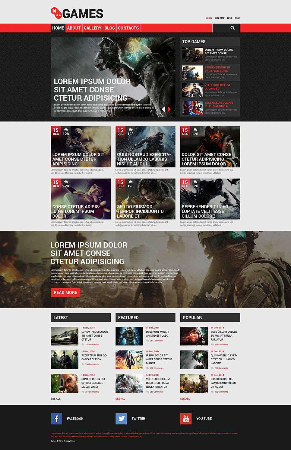 шаблоны игровых сайтов drupal