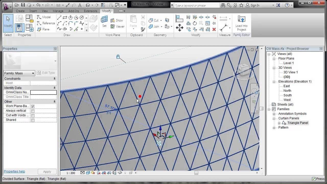 revit pattern based curtain walls