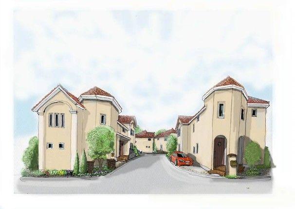 新しい街並み 建築パース