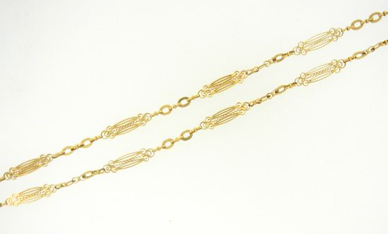 French Filigree Gold Chain