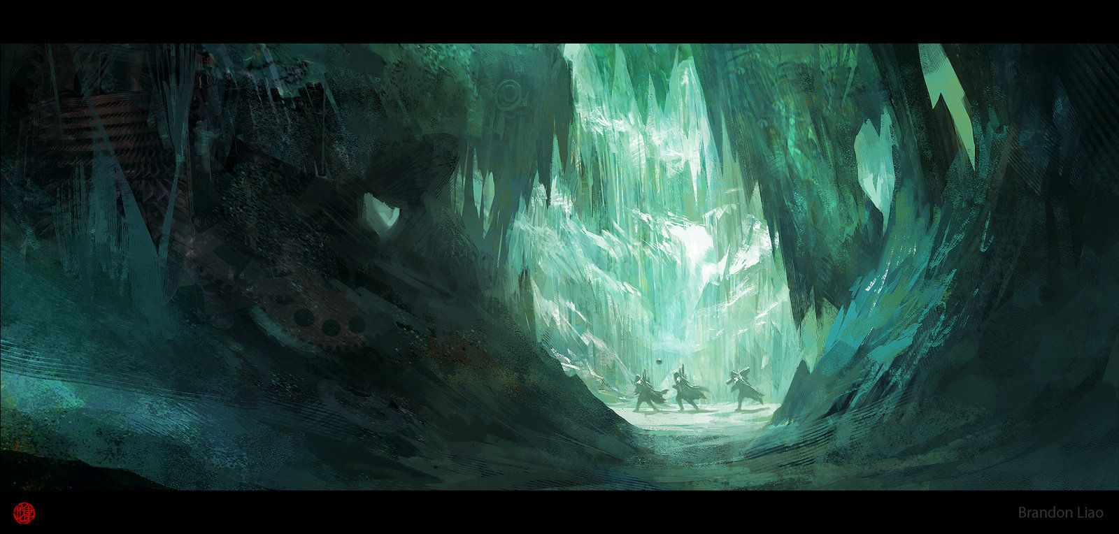 airbrushed artwork cavern concept - photo #14