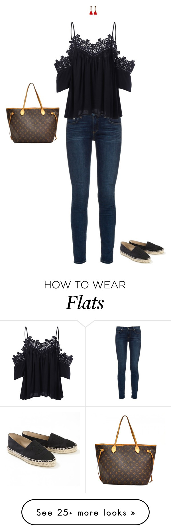 """""""Dinner in San Marino"""" by mrs-snow on Polyvore featuring rag & bone, Chanel and Louis Vuitton"""