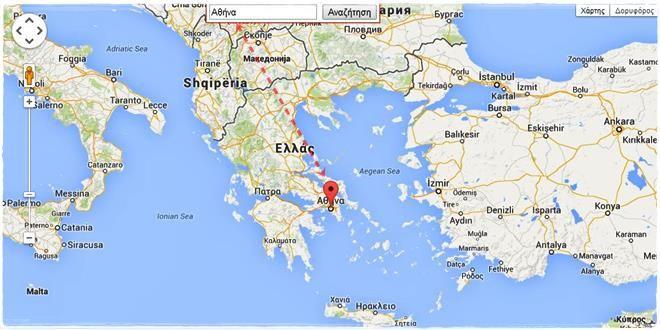 Xarths Elladas Google Map Doryforos Edafos Odoi Izmir