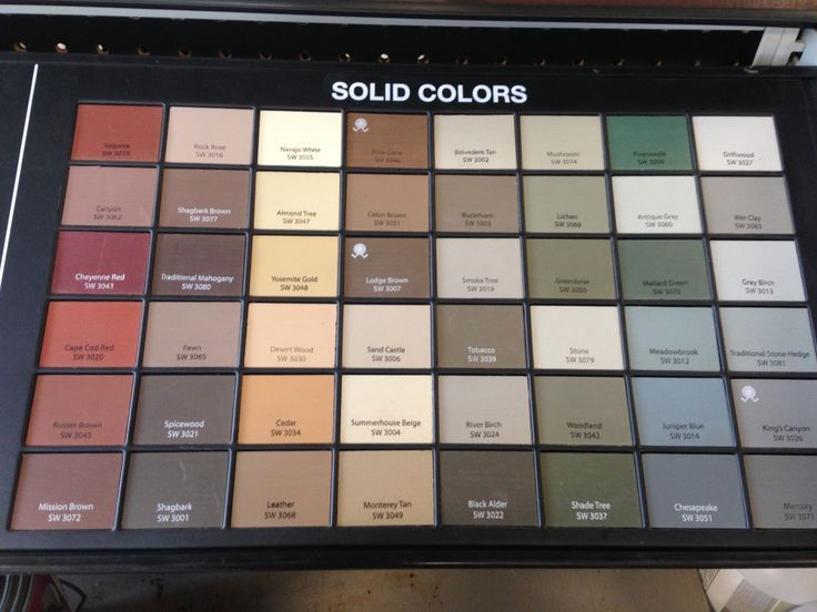Image Result For Sherwin Williams Deck Stain Color Chart