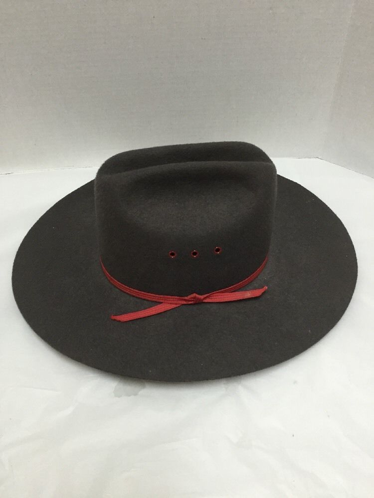 ddec5cdbb0 Cowboy Hat Rockmount Ranch Wear Western Brown 100% Wool Sz 6 7 8 Tru-West  USA  Rockmount  CowboyWestern