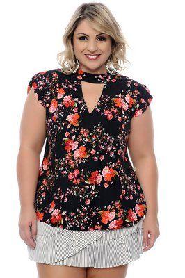 672b2564b Blusa Plus Size Lourdes | Moda Plus size | Blusas, Blusas para ...