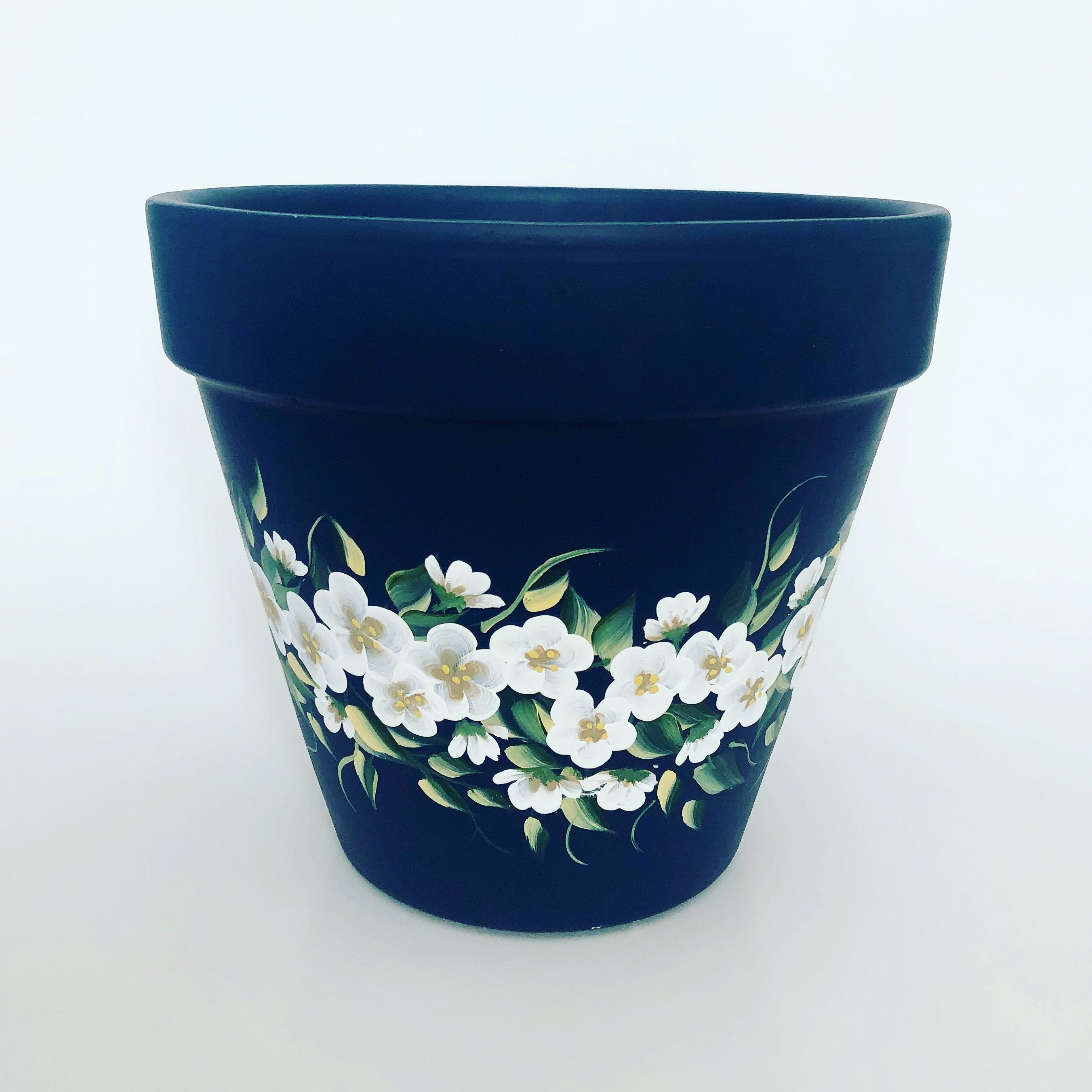 Sold On Etsy Flower Pots Ceramic Flower Pots Hand Painted Flowers