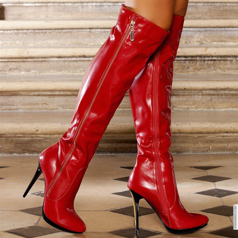 bottes femme rouge taille 36 achat en ligne bottes femme sur modatoi je suis fan de shoes. Black Bedroom Furniture Sets. Home Design Ideas