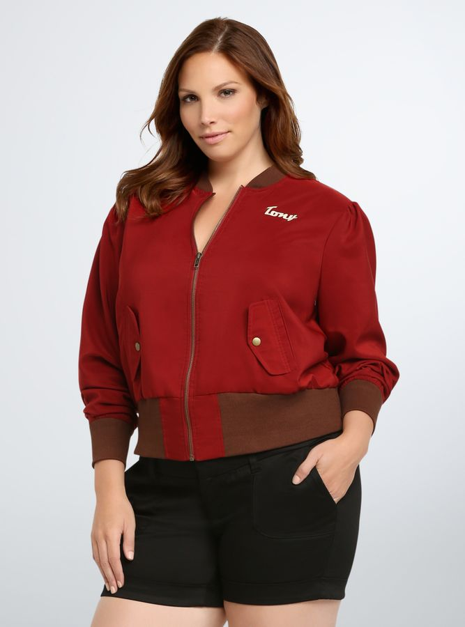 06eef457485 Shop clearance plus size clothing   accessories on sale now! Torrid Marvel  By Her Universe Collection Tony Stark Bomber Jacket