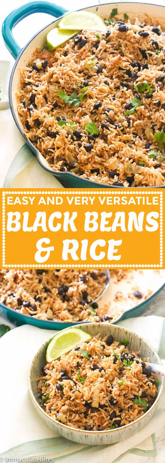 Black Beans and Rice - Immaculate Bites