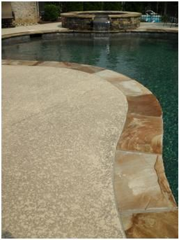 Sprayed On Texture Pool Remodel Pool Landscaping Pool Deck Ideas Inground