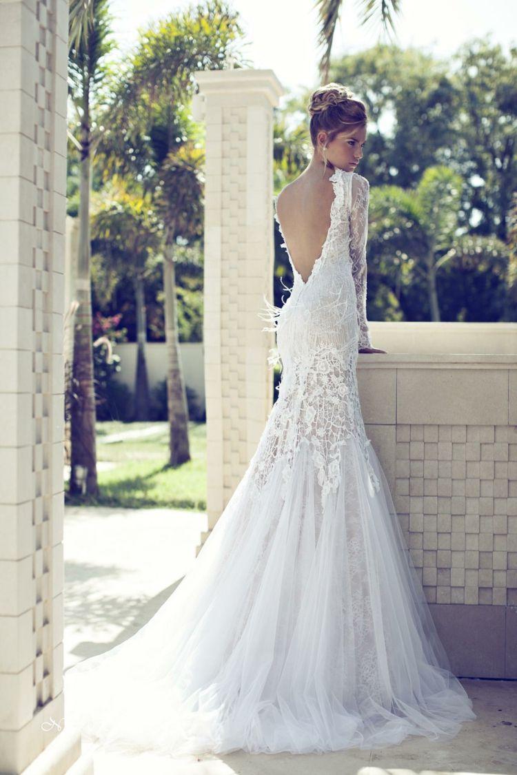 Hochzeitskleid Tiefer Rücken | Hochzeitskleid eng ...