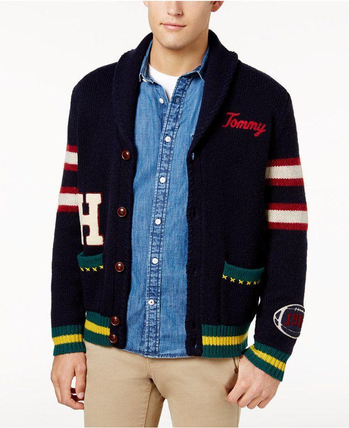 Tommy Hilfiger Men s Sunday Shawl-Collar Sweater   My Virtual ... 63efd21811d4