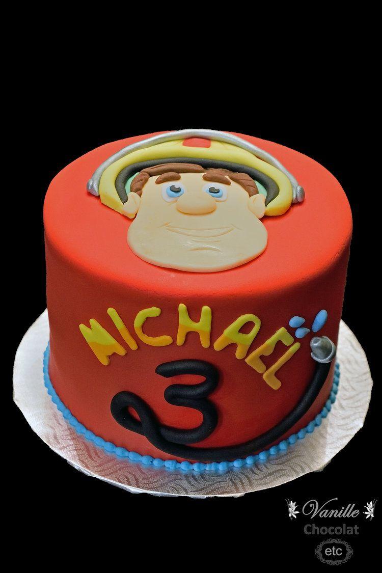 Fireman Sam Cake Gateau Sam Le Pompier Gateau Cupcakes Chocolat