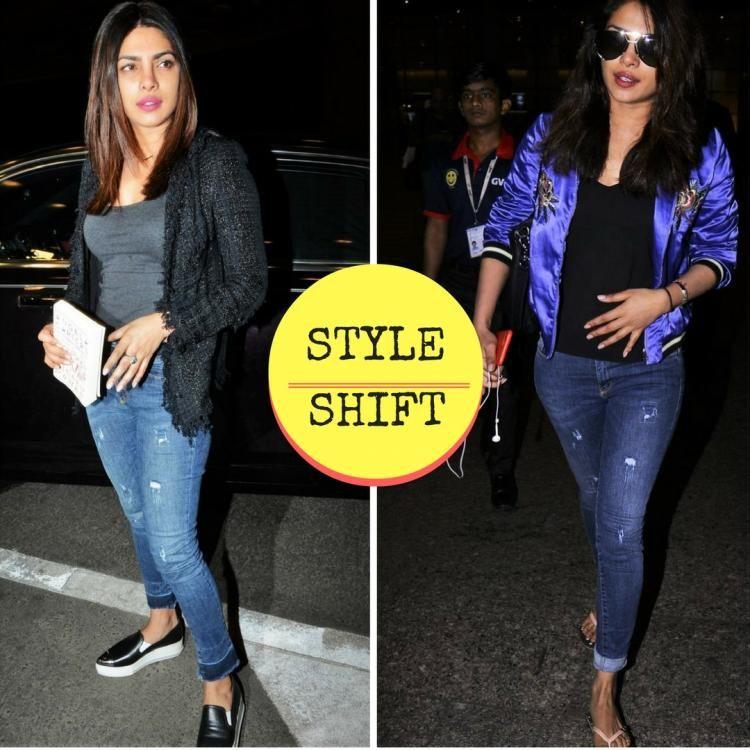 626877dc1b0 Style shift  Priyanka Chopra s Tweed jacket or Bomber jacket