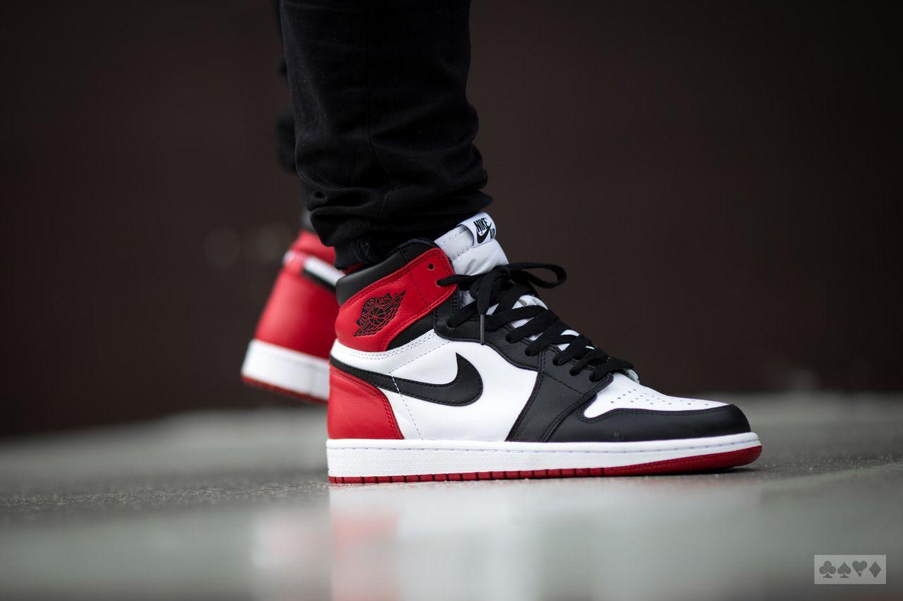 Nike Air Jordan 1 Retro High OG Black Toe  bbac90782