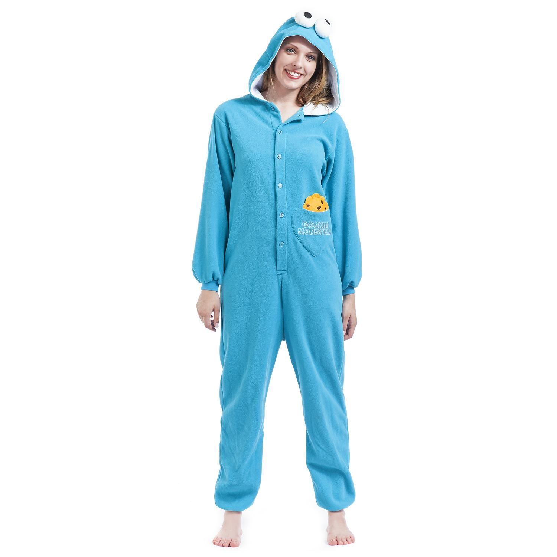 """Sesame Street Jumpsuit """"Cookie Monster"""" Frauen blau jetzt bestellen! • EMP"""