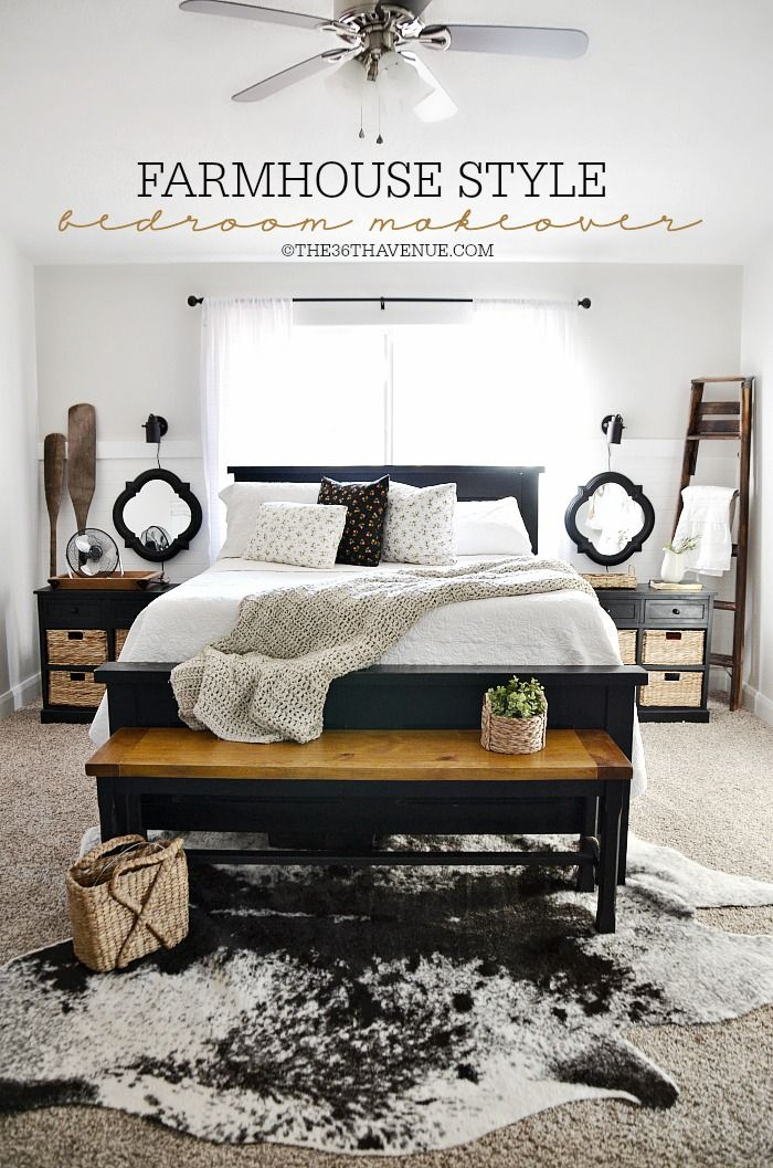Home decor bedroom makeover diy bedroom bedrooms and for Farmhouse style bedroom