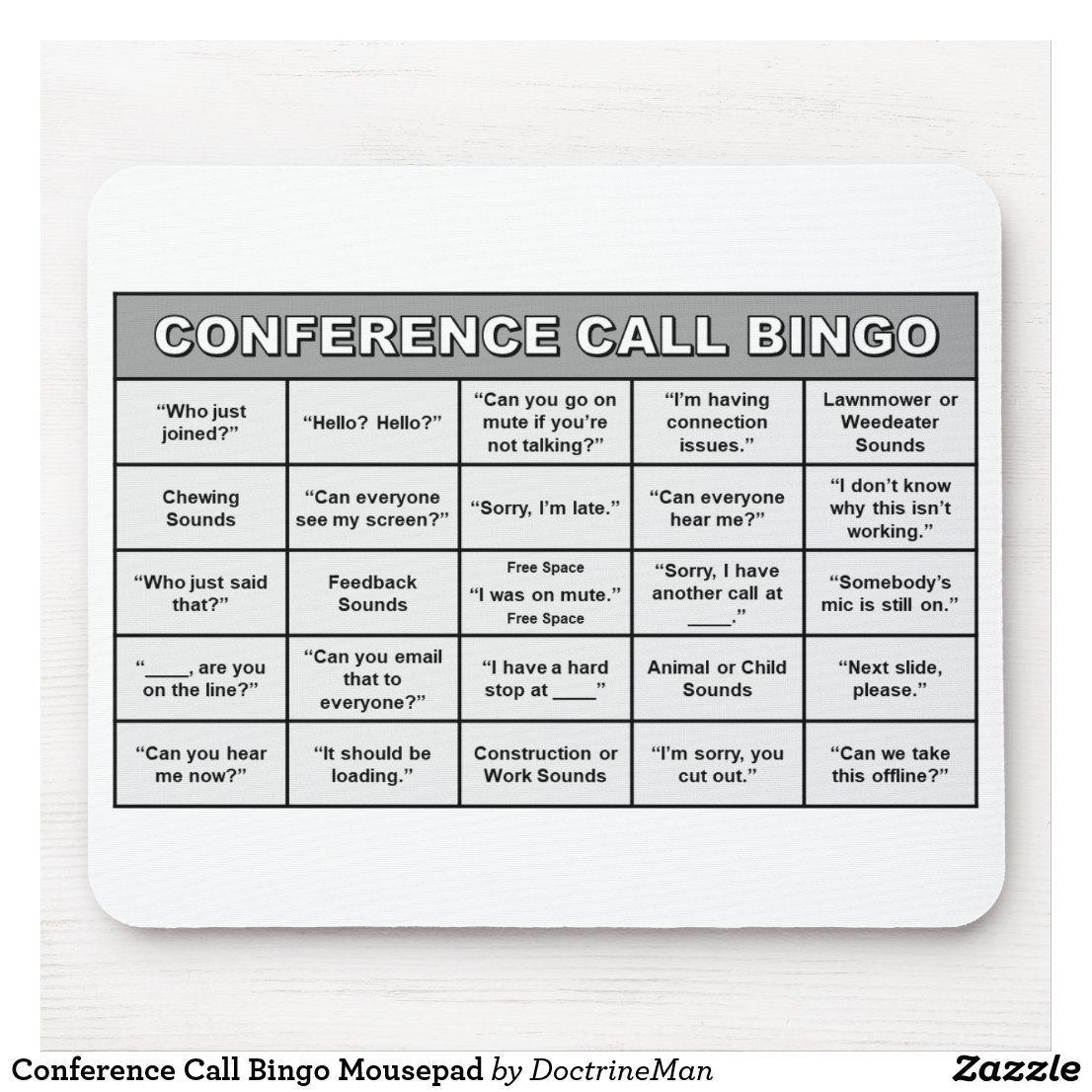 Conference Call Bingo Mousepad