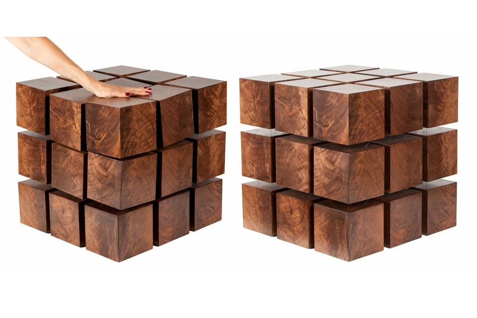 Wood Coffee Table Levitates via Magnet furniture Pinterest