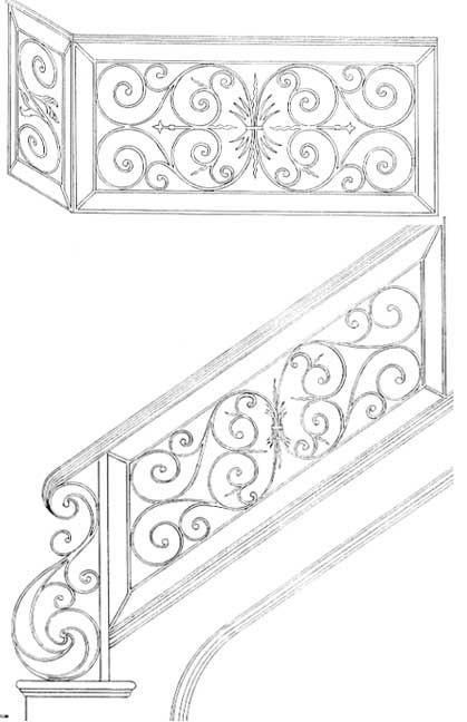 Railing Designs | Stair Railing | Iron Stair Railings