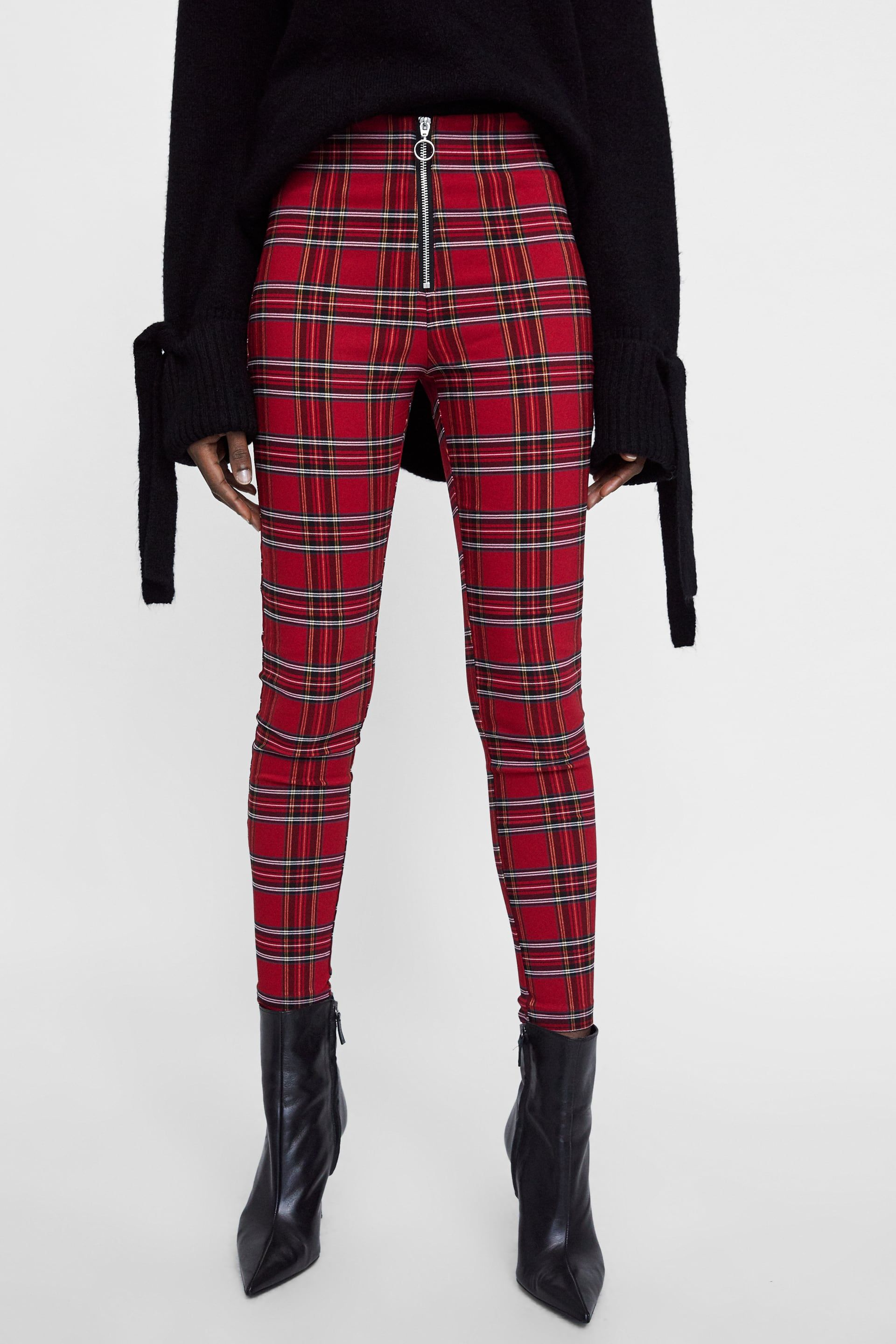 866951cfcd1a76 Image 2 of PLAID PANTS WITH ZIPPER from Zara | shopping spree ...