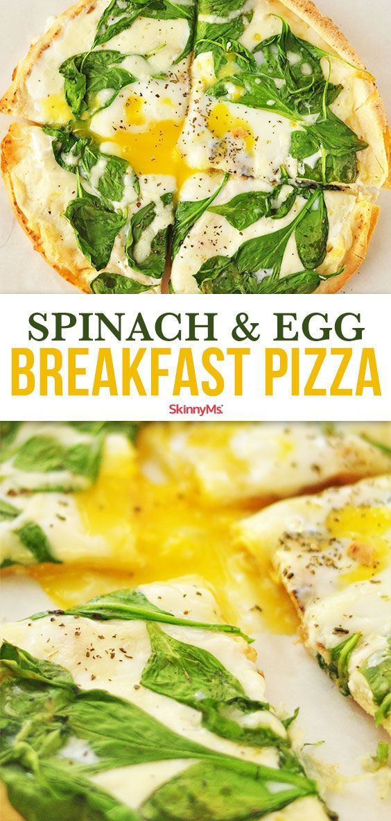 Spinach and Egg Breakfast Pizza images