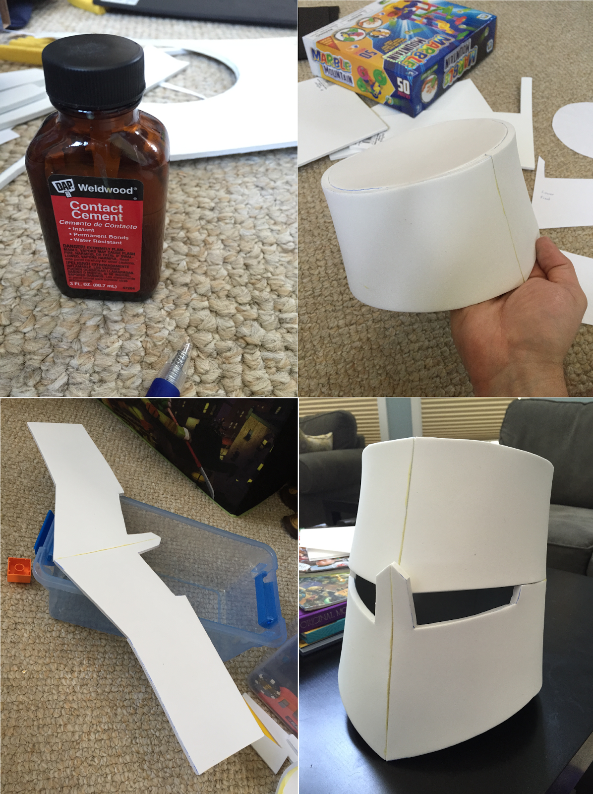 Edit Link To Pdf Template The Other Day I Decided That My Three Year Old Son Needed A Knight Helm Diy Knight Costume Knight Costume For Kids Crusader Helmet