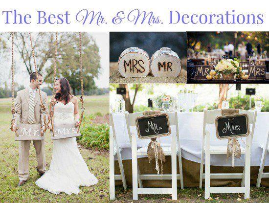 The Best Mr Mrs Wedding Signs