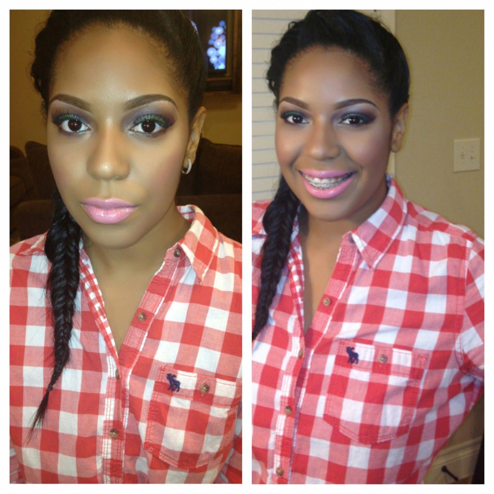 makeup, bridal makeup with color, makeup for