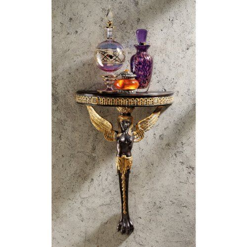 Kitchen Accessories Egypt: Egyptian Winged Caryatid Wall Shelf By Design Toscano. $29