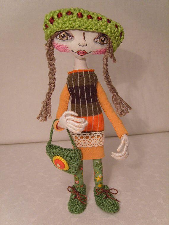 Cloth doll art doll interior doll modern doll por HallaBalla, €140.00