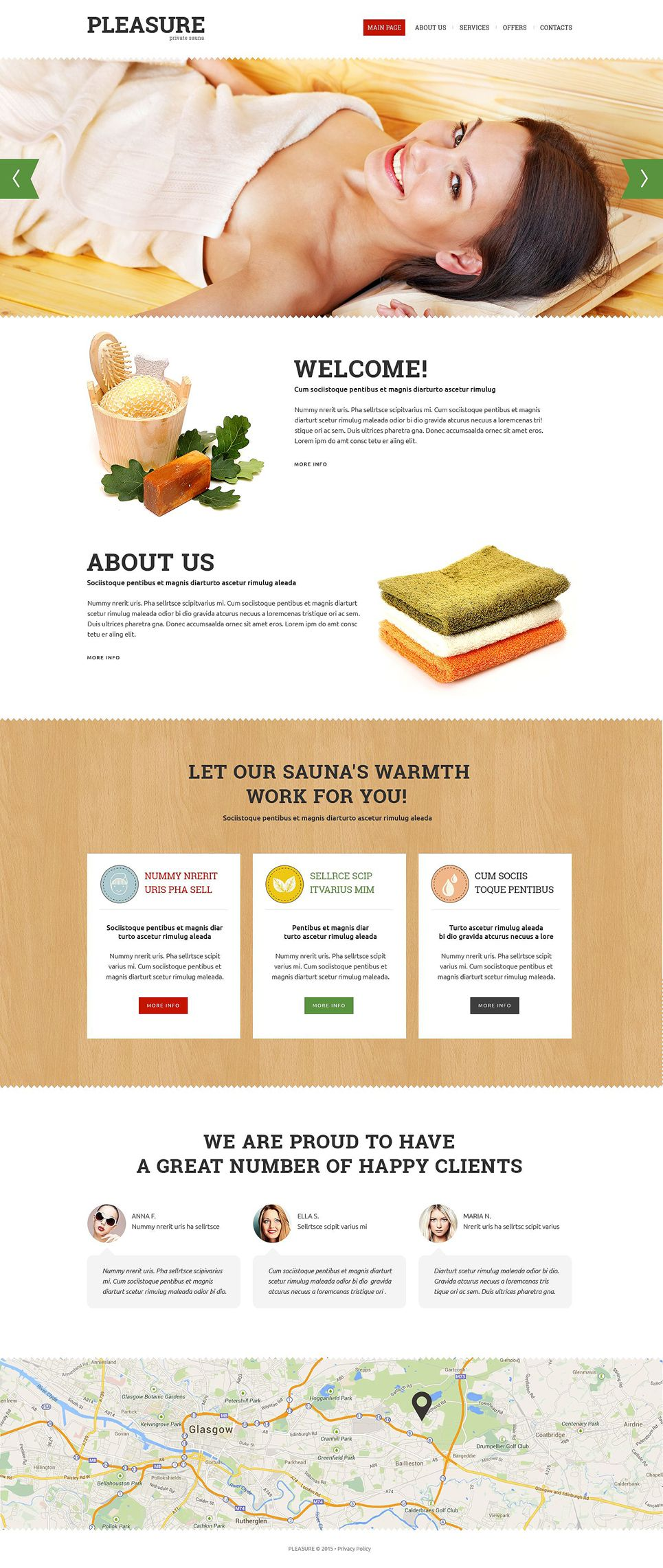 Sauna Responsive Website Template  Website And Web Inspiration