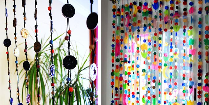 Manualidades para dise ar cortinas con materiales - Como hacer cortinas para puertas ...