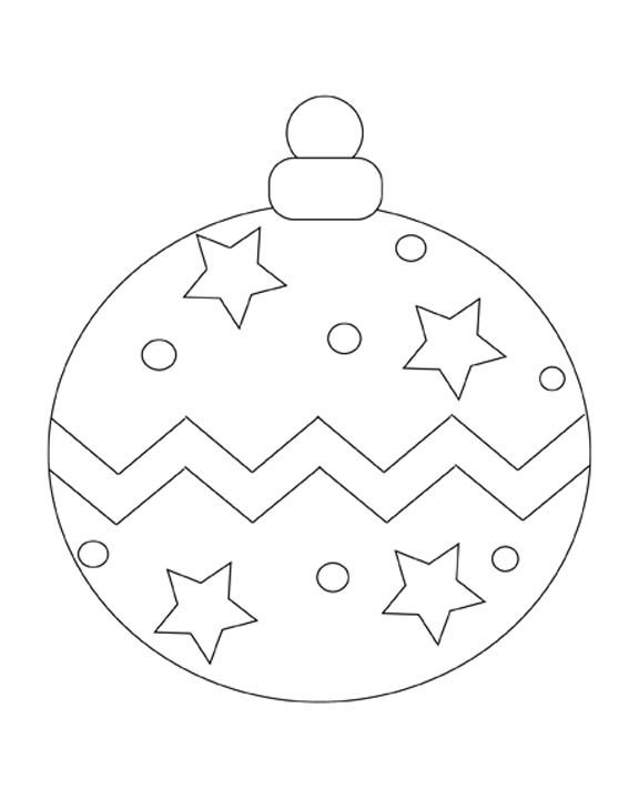 Ball Ornament Coloring Pages Christmas Ornaments
